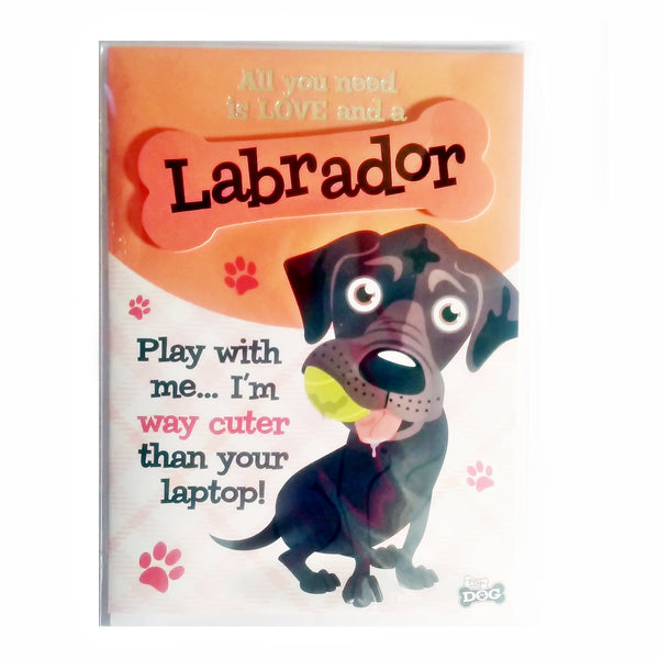 "Wags & Whiskers Dog Greeting Card ""Labrador Black"" by Paper Island"