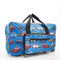 Eco Chic Recycled Cabin Approved 30 Litre Foldable Holdall (Mini Car - Blue)