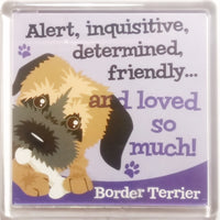 "Wags & Whiskers Dog Magnet ""Border Terrier"" by Paper Island"