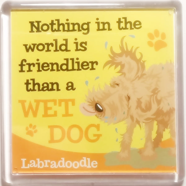 "Wags & Whiskers Dog Magnet ""Labradoodle"" by Paper Island"