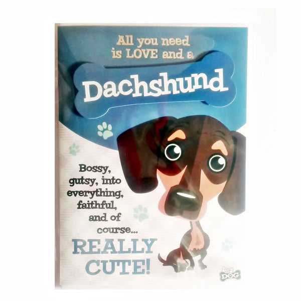 "Wags & Whiskers Dog Greeting Card ""Dachshund"" by Paper Island"