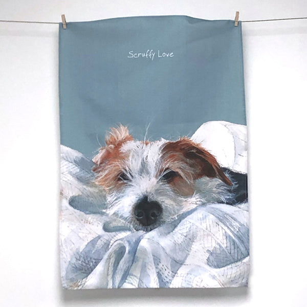 Designer Tea Towel – Scruffy Love