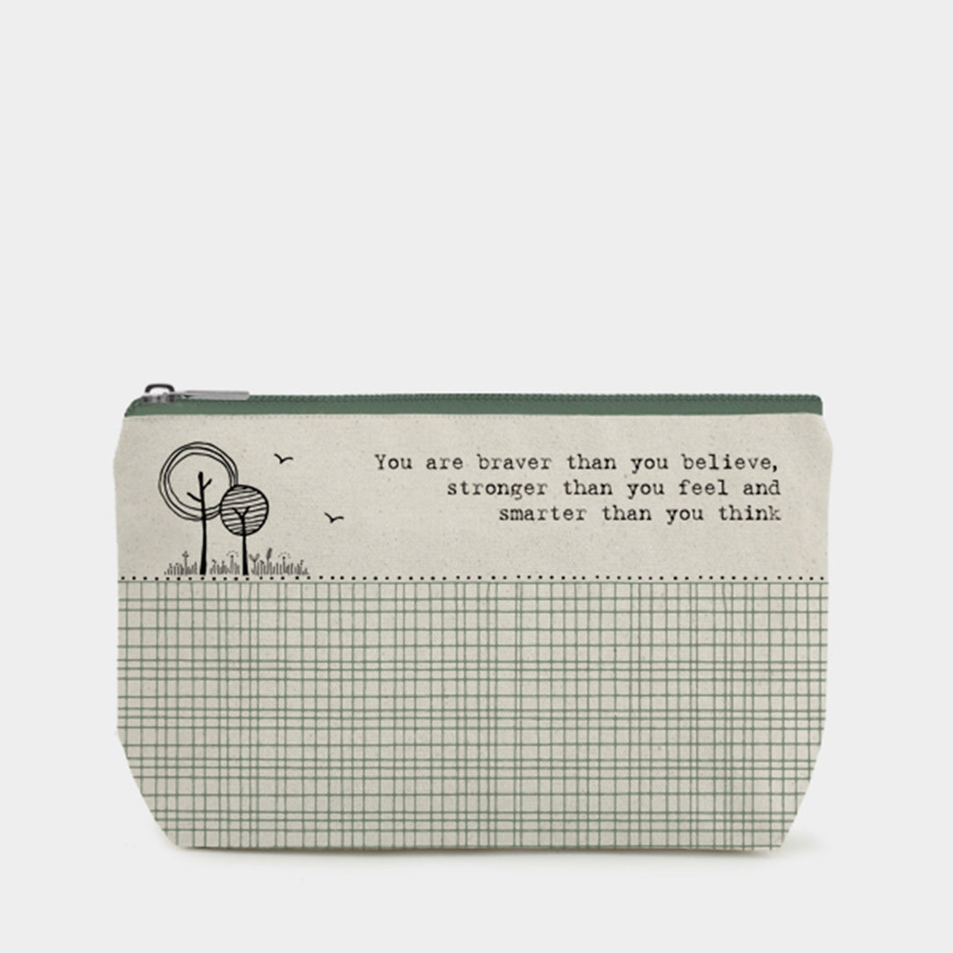 East of India - Toiletry/Cosmetic bag - You are braver