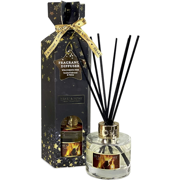 Heart & Home Christmas Fragrance Diffuser 75ml Welcoming Fire