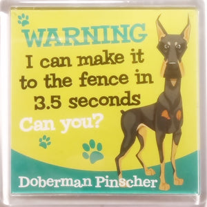 "Wags & Whiskers Dog Magnet ""Doberman Pinscher"" by Paper Island"