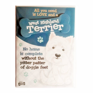 "Dog Greeting Card ""West Highland Terrier"" by Paper Island"