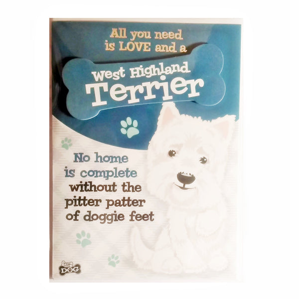 "Wags & Whiskers Dog Greeting Card ""West Highland Terrier"" by Paper Island"