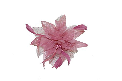 Pink Spotted Fascinator