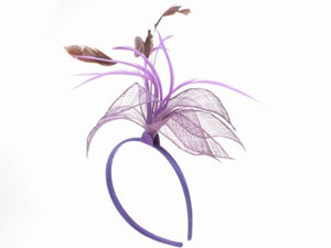 Glitz4Girlz Purple Floral Fascinator