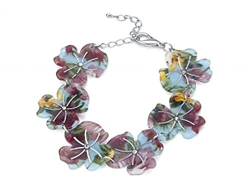 Acrylic Flower Bracelet (Purple)