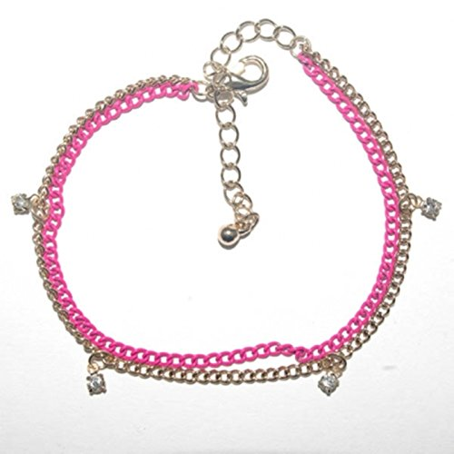 Diva Pink and Golden Anklet.