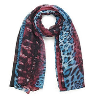 Purple Hazy Animal Print Long Scarf A Hazy Animal Print In 2 Striking Colourways