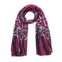 Pink Animal Print Long Scarf