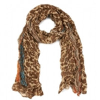 Animal print scarves with colourful highlights