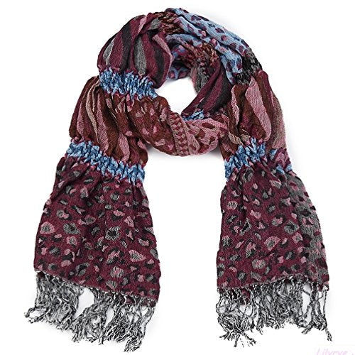 Instantly enrich your outfit with these stunning animal print scarves in thick woven ruched fabric.