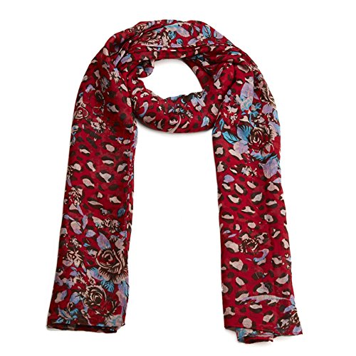 LADIES mix print pattern of animal and rose SCARF NECK SCARVE WINTER GIFTS CHRISTMAS
