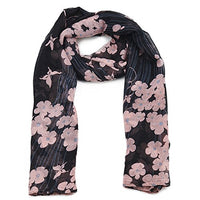 LADIES Stencil flowers and butterflies NECK SCARFWINTER GIFTS CHRISTMAS