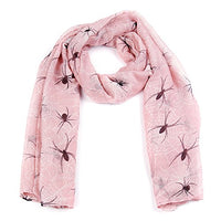 Spider Print Long Scarf The Spider Print IS A Clever All Over Print. (Pink)