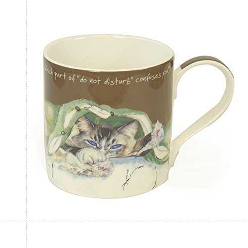 Digs & Manor Confuses You Mug and Gift Box, Bone China Multi-Colour, 9.5 x 13 x 9.5 cm