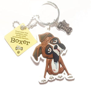 "Dog Key Ring ""Boxer"" by Paper Island Top Dog & Cat Keyrings"