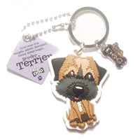 "Dog Key Ring ""Border Terrier"" by Paper Island Top Dog & Cat Keyrings"