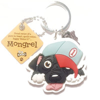 "Dog Key Ring "" Mongrel"" by Paper Island Top Dog & Cat Keyrings"