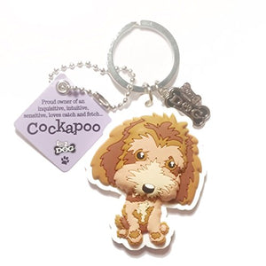 "Dog Key Ring ""Cockapoo"" by Paper Island Top Dog & Cat Keyrings"