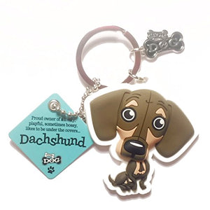 "Dog Key Ring ""Dachshund"" by Paper Island Top Dog & Cat Keyrings"