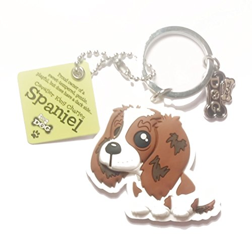 "Dog Key Ring ""Cavalier King Charles Spaniel"" by Paper Island Top Dog & Cat Keyrings"