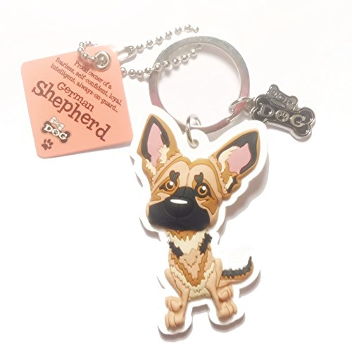 "Dog Key Ring ""German Shepherd"" by Paper Island Top Dog & Cat Keyrings"