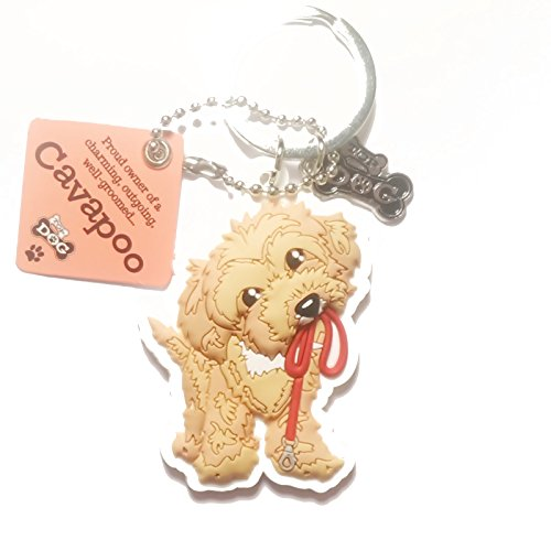 "Dog Key Ring ""Cavapoo"" by Paper Island Top Dog & Cat Keyrings"