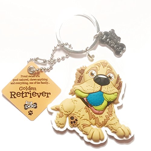 "Dog Key Ring ""Golden Retriever"" by Paper Island Top Dog & Cat Keyrings"
