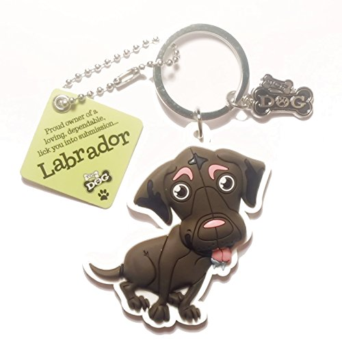 "Dog Key Ring ""Labrador (Brown)"" by Paper Island Top Dog & Cat Keyrings"