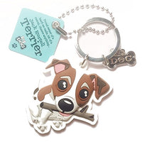 "Dog Key Ring ""Jack Russell Terrier"" by Paper Island Top Dog & Cat Keyrings"