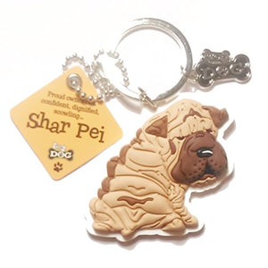 "Dog Key Ring ""Shar-Pei"" by Paper Island Top Dog & Cat Keyrings"