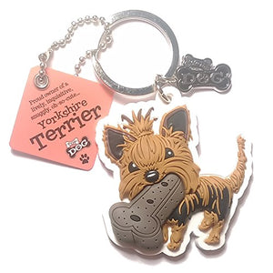 "Dog Key Ring ""Yorkshire Terrier"" by Paper Island Top Dog & Cat Keyrings"