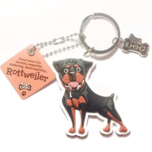 "Dog Key Ring ""Rottweiler"" by Paper Island Top Dog & Cat Keyrings"