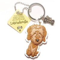 "Dog Key Ring ""Labradoodle"" by Paper Island Top Dog & Cat Keyrings"