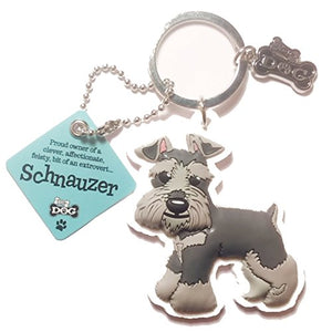 "Dog Key Ring ""Schnauzer"" by Paper Island Top Dog & Cat Keyrings"