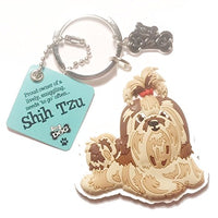 "Dog Key Ring ""Shih Tzu"" by Paper Island Top Dog & Cat Keyrings"