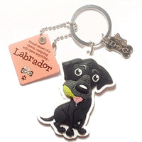 "Dog Key Ring ""Labrador (Black)"" by Paper Island Top Dog & Cat Keyrings"