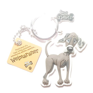 "Dog Key Ring ""Wiemaraner"" by Paper Island Top Dog & Cat Keyrings ?"