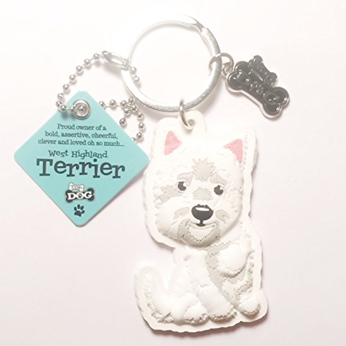 "Dog Key Ring ""West Highland Terrier"" by Paper Island Top Dog & Cat Keyrings ?"