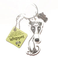 "Dog Key Ring ""Whippet"" by Paper Island Top Dog & Cat Keyrings ?"