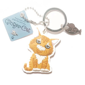 "Cat Key Ring ""Ginger Cat (don't care)"" by Paper Island Top Dog & Cat Keyrings ?"