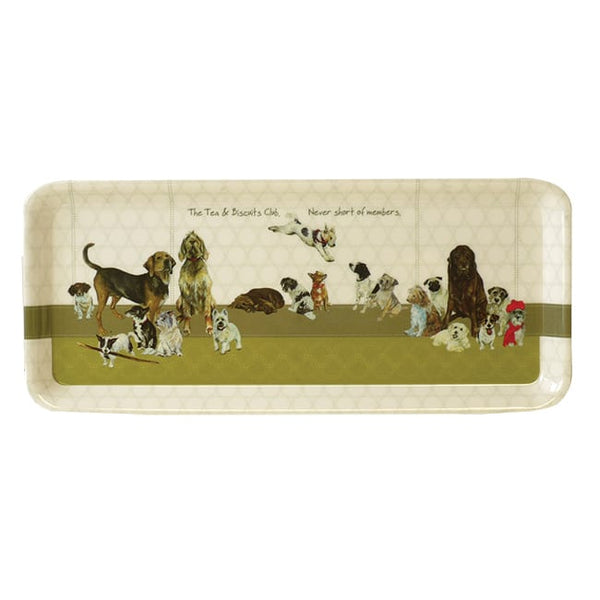 Biscuit Club Tea Tray by the little dog laughed