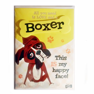 "Dog Greeting Card ""Boxer"" by Paper Island"