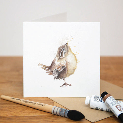 LITTLE WREN GREETING CARD