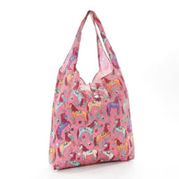 Shopper Bag by Eco Chic - Unicorn Print - Pink