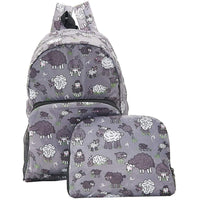 Eco Chic Lightweight Foldable Backpack (Sheep Grey)
